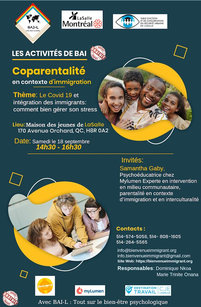 Covid-19 et Intégration Immigrant – Gestion Stress